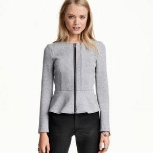 H&M Gray Peplum Jacket